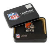 Cleveland Browns Embroidered Leather Tri-Fold Wallet