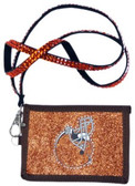 Cleveland Browns Beaded Lanyard Wallet