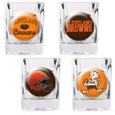 Cleveland Browns 4pc Collector's Shot Glass Set GSSC4PK2004-35