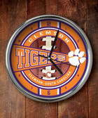 Clemson Tigers Chrome Clock