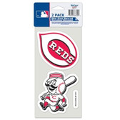 Cincinnati Reds Set of 2 Die Cut Decals