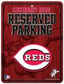 Cincinnati Reds Metal Parking Sign