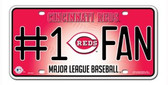Cincinnati Reds License Plate - #1 Fan