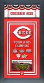 Cincinnati Reds Framed Championship Banner