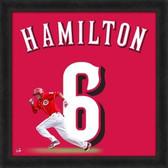 Cincinnati Reds Billy Hamilton 20X20 Framed Uniframe Jersey Photo