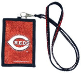 Cincinnati Reds Beaded Lanyard Wallet