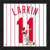 Cincinnati Reds Barry Larkin 20x20 Framed Uniframe Jersey Photo