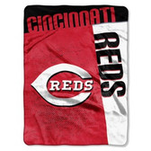"Cincinnati Reds 60""x80"" Royal Plush Raschel Throw Blanket - Strike Design"