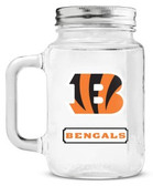 Cincinnati Bengals Mason Jar Glass With Lid