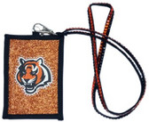 Cincinnati Bengals Beaded Lanyard Wallet