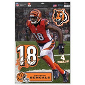 "Cincinnati Bengals A.J. Green 11""x17"" Multi-Use Decal Sheet"