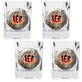 Cincinnati Bengals 4pc Square Shot Glass Set
