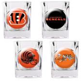 Cincinnati Bengals 4pc Collector's Shot Glass Set