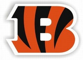 "Cincinnati Bengals 12"" 'B' Logo Car Magnet"