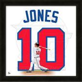 Chipper Jones Atlanta Braves 20x20 Framed Uniframe Jersey Photo
