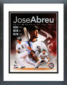 Chicago White Sox Jose Abreu 2014 American League Rookie of the Year Portrait Plus 8x10 Wood Framed and Matted