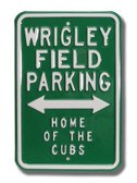 Chicago Cubs Wrigley Field Parking Sign