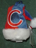 Chicago Cubs Santa Hat Ornament