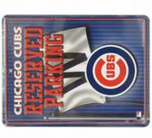 Chicago Cubs Metal Parking Sign