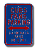 Chicago Cubs Cardinals Go Home Parking Sign