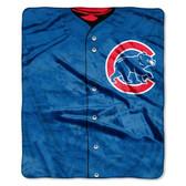 "Chicago Cubs 50""x60"" Royal Plush Raschel Throw Blanket - Jersey Design"