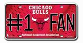 Chicago Bulls License Plate - #1 Fan