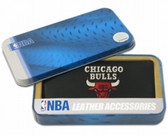 Chicago Bulls Embroidered Leather Checkbook Cover