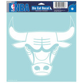 "Chicago Bulls Die-cut Decal - 8""x8"" White"