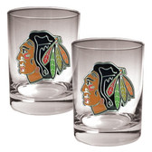 Chicago Blackhawks 2pc Rocks Glass Set - Primary Logo