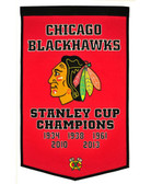 "Chicago Blackhawks 24""x36"" Wool Dynasty Banner"