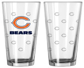 Chicago Bears Satin Etch Pint Glass Set