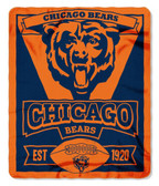 Chicago Bears 50x60 Fleece Blanket - Marque Design