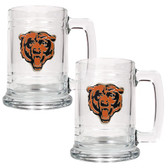 Chicago Bears 2pc Glass Tankard Set