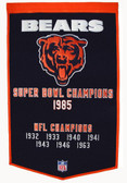 "Chicago Bears 24""x36"" Wool Dynasty Banner"