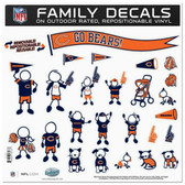 "Chicago Bears 11""x11"" Family Decal Sheet"