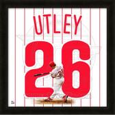 Chase Utley Philadelphia Phillies 20x20 Framed Uniframe Jersey Photo