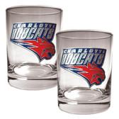 Charlotte Bobcats Rocks Glass Set