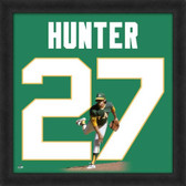 Catfish Hunter Oakland Athletics 20x20 Framed Uniframe Jersey Photo