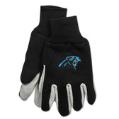 Carolina Panthers Two Tone Gloves - Adult Size