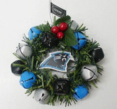 Carolina Panthers Christmas Wreath Ornament