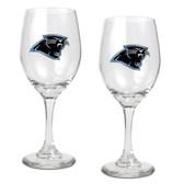 Carolina Panthers 2pc Wine Glass Set