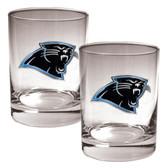 Carolina Panthers 2pc Rocks Glass Set