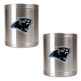 Carolina Panthers 2pc Stainless Steel Can Holder Set