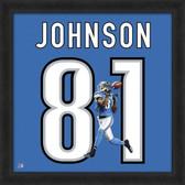 Calvin Johnson Detroit Lions 20x20 Framed Uniframe Jersey Photo
