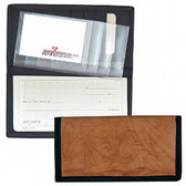Calgary Flames Leather/Nylon Embossed Checkbook Cover