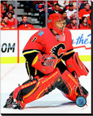 Calgary Flames Jonas Hiller 2014-15 Action 40x50 Stretched Canvas AARL036-252