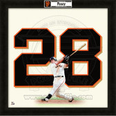 Buster Posey San Francisco Giants 20x20 Framed Uniframe Jersey Photo