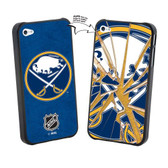 Buffalo Sabres iPhone 4/4S NHL  Broken Glass Lenticular Case