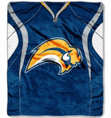"Buffalo Sabres 50""x60"" Royal Plush Raschel Throw Blanket - Jersey Design"