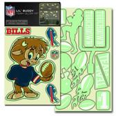 Buffalo Bills Lil' Buddy Glow In The Dark Decal Kit